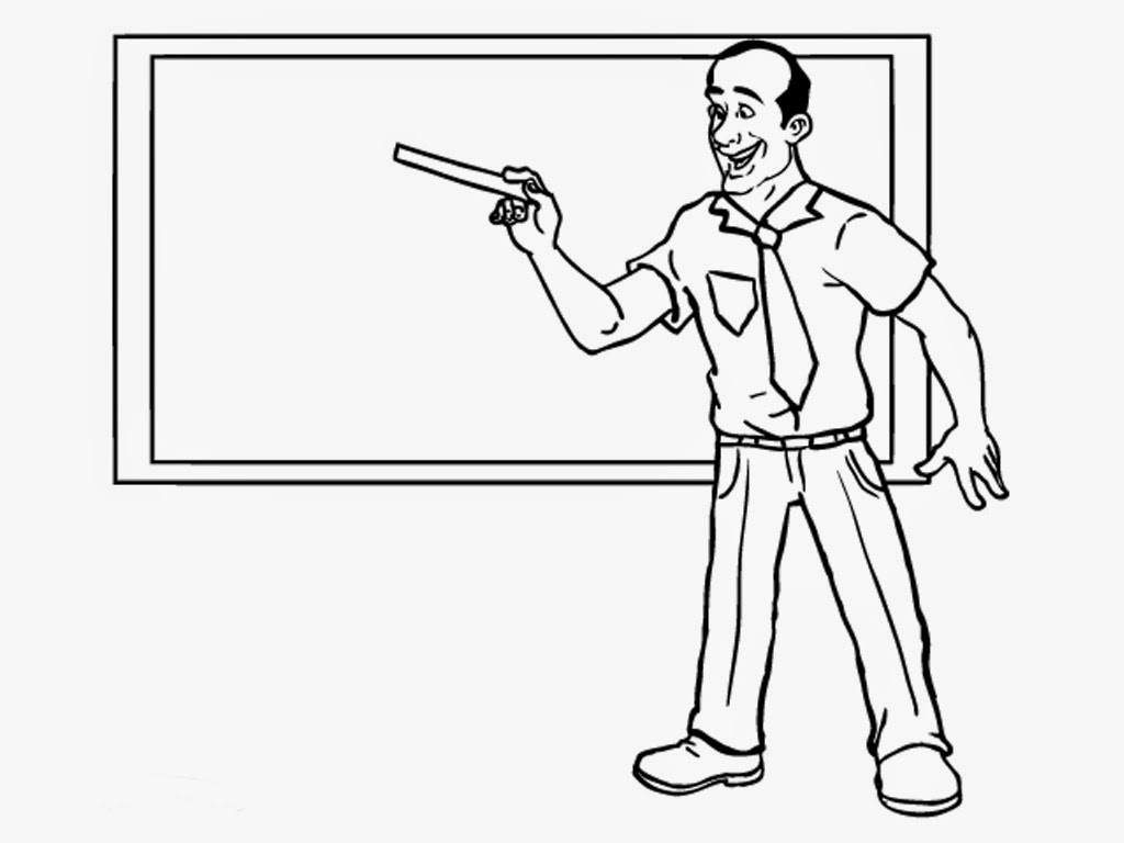 Teacher Coloring Pages Realistic