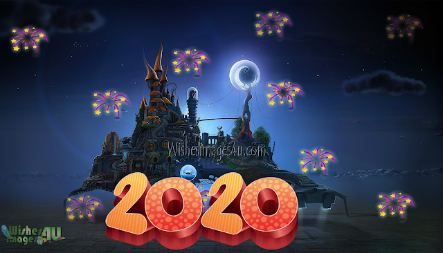 Happy New year 2020 Desktop 3D Wallpapers