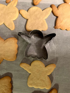cut out angel sugar cookies