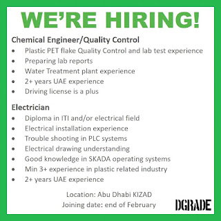 Chemical Engineer /Quality Control / Electrician Job Vacancy For UAE