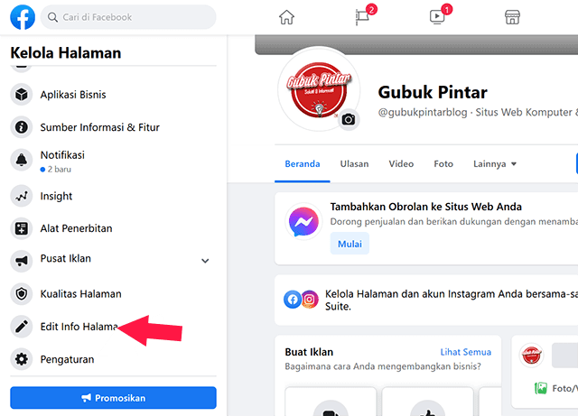 Cara Mengubah Nama Halaman di Facebook