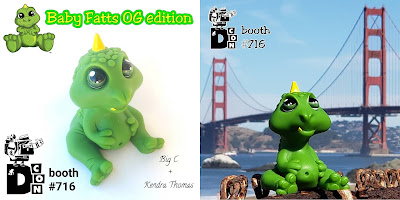 Designer Con 2019 Exclusive Baby Fatts OG Edition Resin Figure by Big C x Kendra Thomas