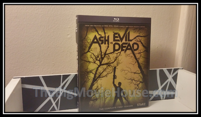 the Ash vs Evil Dead blu-ray slip cover from anchor bay
