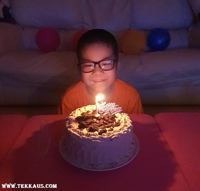Jordan boy and his birthday cake