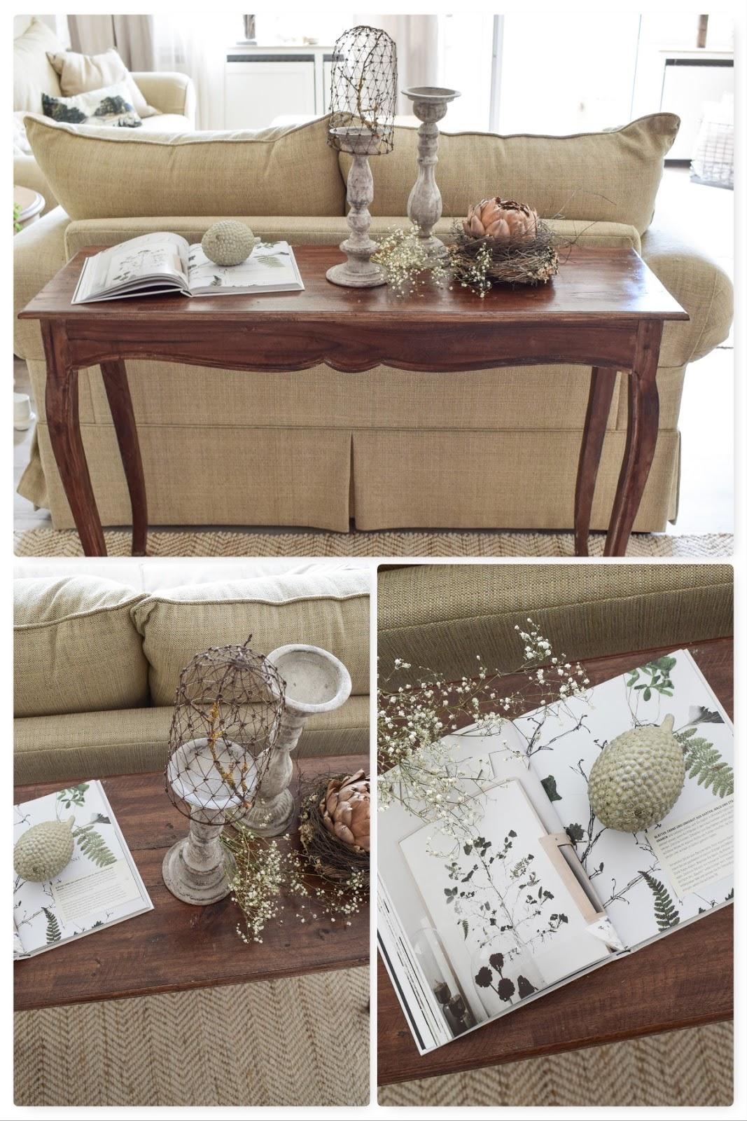 3 Dekoideen für deinen Konsolentisch und Sideboard. Natürlich dekorieren im Wohnzimmer Flur Esszimmer. Dekoidee Konsole Naturdeko getrocknete Artischocke