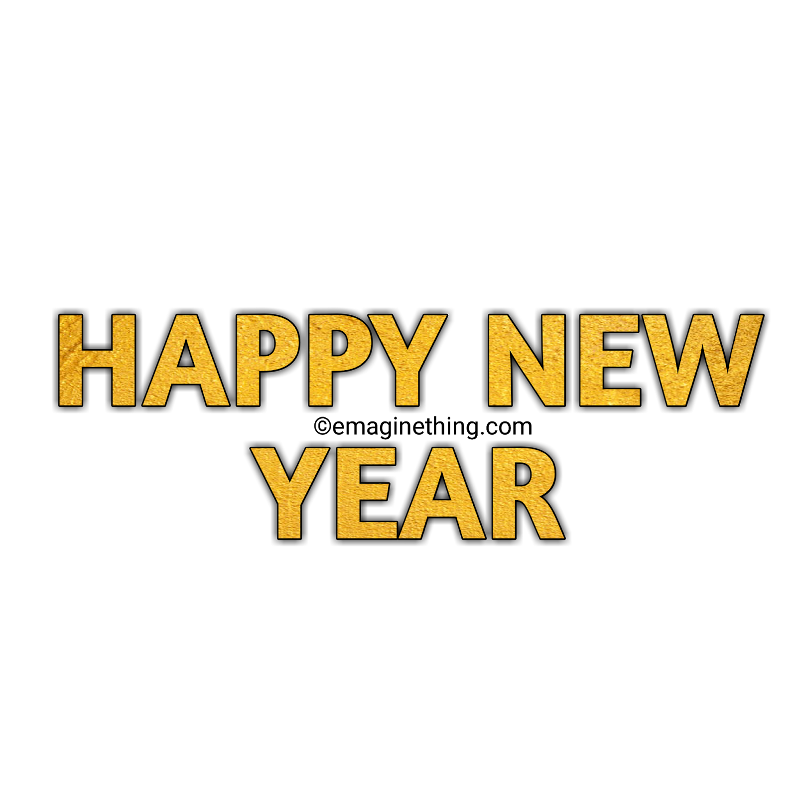 Happy New Year Text Png 24
