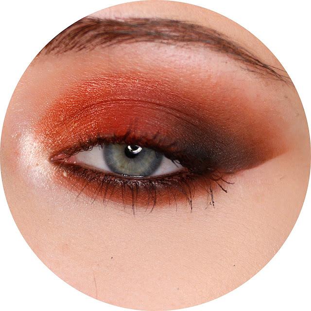 makijaż pomarańczowy