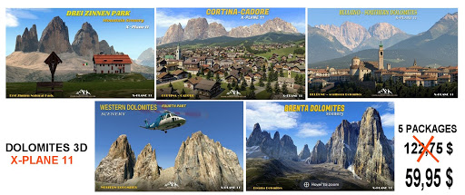 Over 50% discount for 5 DOLOMITES 3D packages