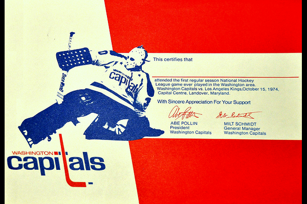 10/15/74:  Fan handout at first home game, a 1-1 tie with LA. (Book Pg. 13)