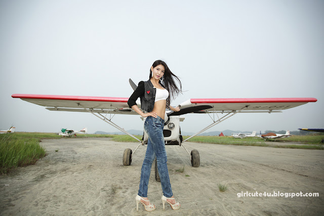3 Cha Sun Hwa-Sexy Pilot-very cute asian girl-girlcute4u.blogspot.com