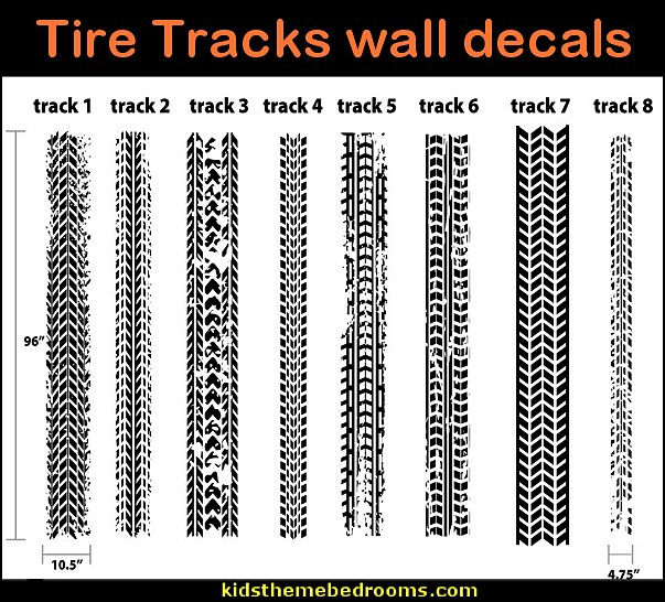 Tire Tracks wall decals  Motocross bedroom ideas - Dirt bike room decor - Dirt bike wall art -  Motocross bedding  - flame theme decorating ideas - dirt bike room stuff - dirt bike themed rooms - motocross room decor - Dirt Bike themed bedrooms - motorcycles - BMX Off road bike - Motosport - Extreme sports bedrooms
