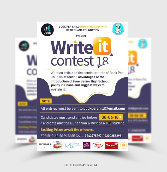 """Write It Contest"" For Junior High School Pupils 2018 Launched"