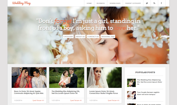 Wedding Magazine Responsive Blogger Template