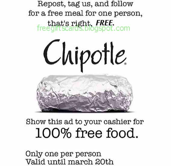 picture regarding Chipotle Coupons Printable identified as Discounted Discount coupons and Promo Codes 2019: Chipotle Discount codes
