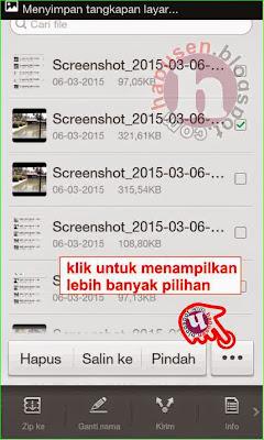 Cara menghapus file handphone android