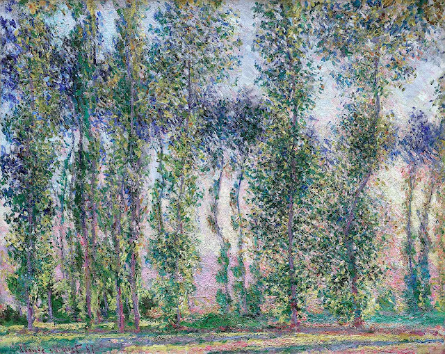Claude Monet 1887, a painting of trees