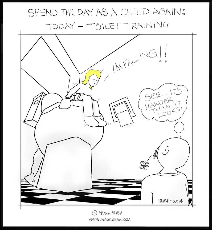 Irish's Cartoons: Being a child for a day again: Toilet