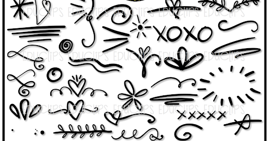 How to use the Writer's Doodle Clip Art Pack