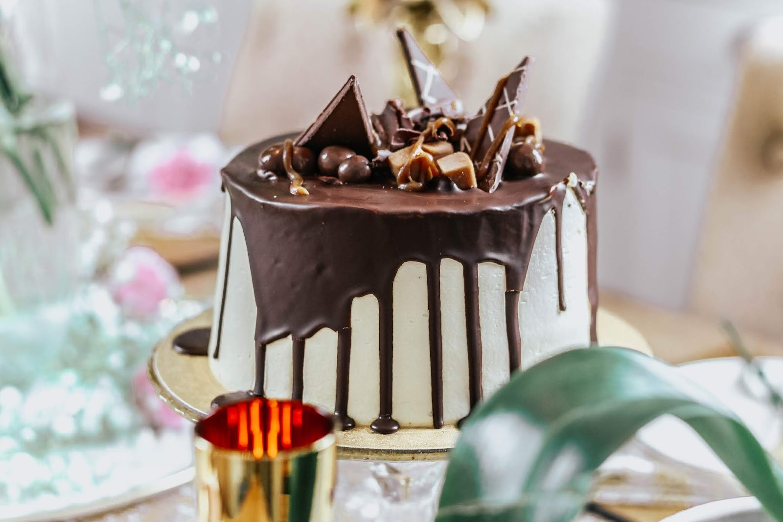 M&S Chocolate and Caramel Dribble Cake