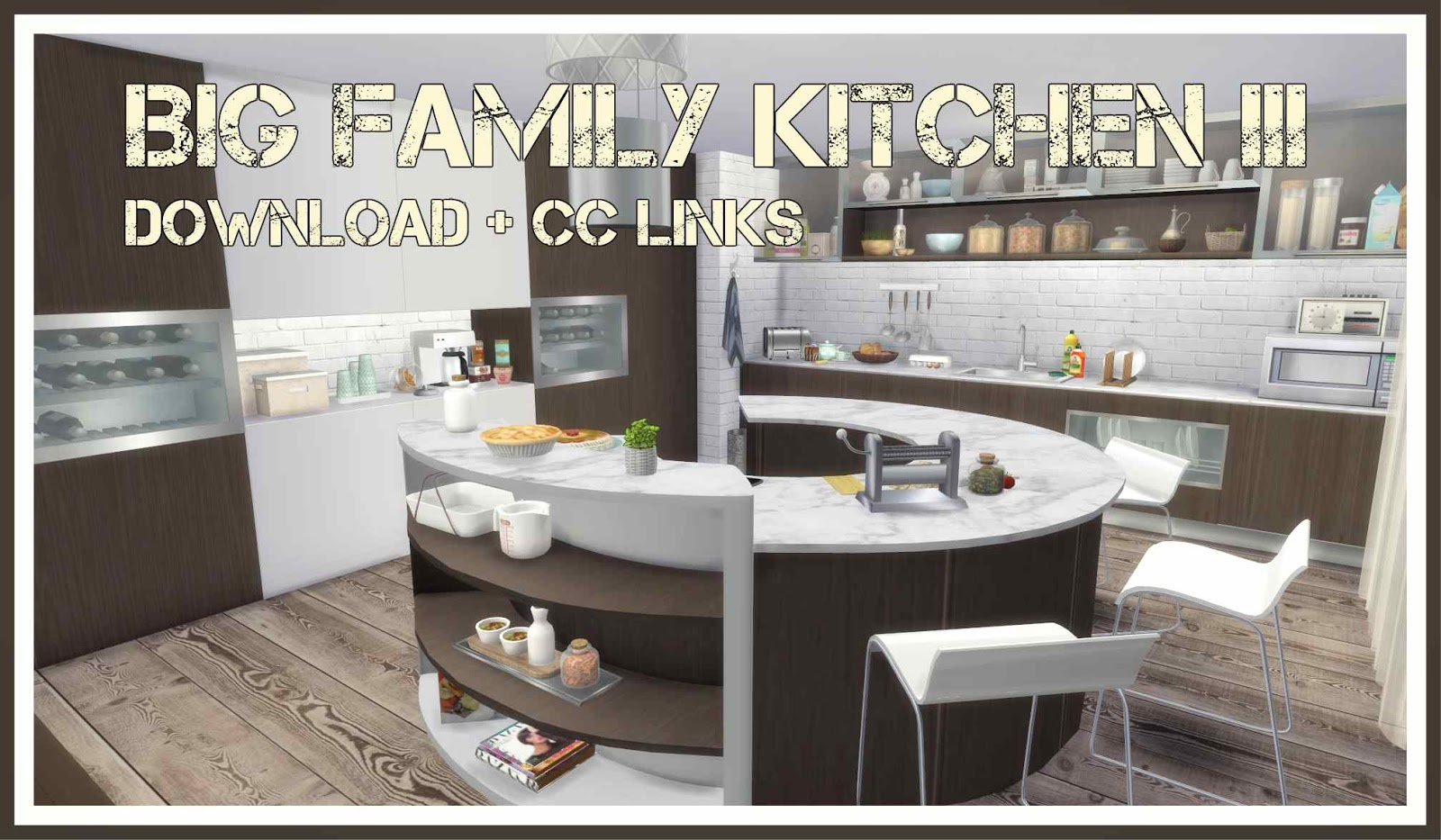 sims 4   big family kitchen   dinha