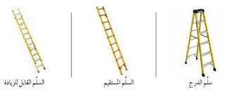 انواع السلالم المستخدمه في اعمال الصيانة الكهربائية