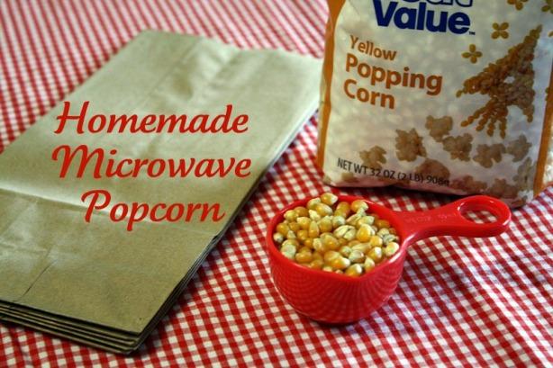 simple diy microwave popcorn