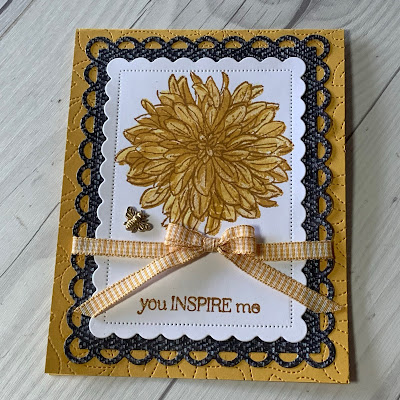 Inspirational floral handmade greeting card using Delicate Dahlias Stamp Set from Stampin' Up!