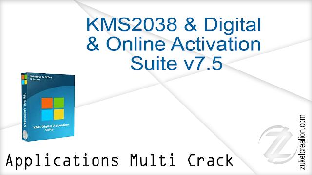 KMS2038 & Digital & Online Activation Suite version 7.5  |  2 MB