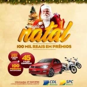 Cadastrar Promoção CDL Blumenau Natal 2019 - Carro, Motos e Vales-Compras