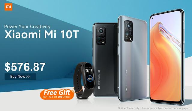 Xiaomi Mi 10T já disponível na Gearbest com oferta de Mi Band 5