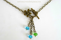 flower clasp necklace