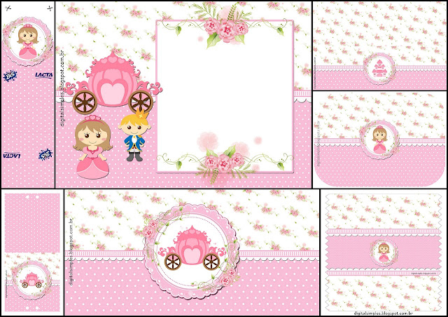 Baby Princess: Free Printable Invitations and Candy Bar Labels.
