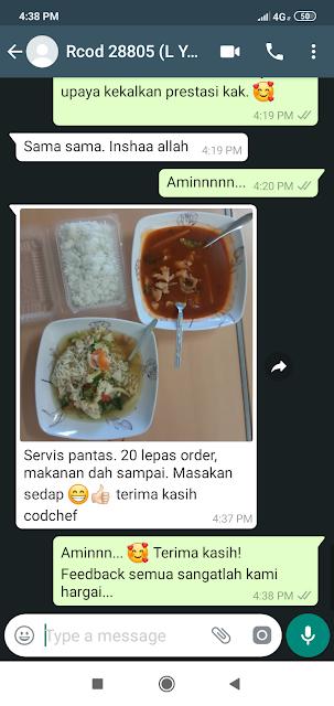 COD Foode Delivery Masakan Panas di Jalan Long Yunus KB #codchef