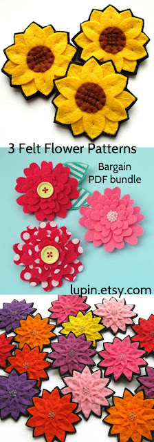 Felt Flower Pattern Bundle