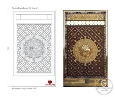 Pengrajin pintu masjid kayu jati