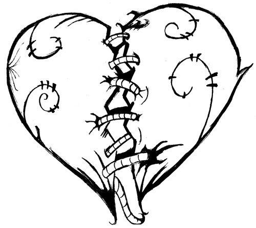 Сердце связанное нитками раскраски Heart connected by thread coloring