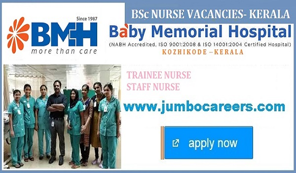 Bsc Nurse Jobs in Kerala | Nursing Careers for Freshers