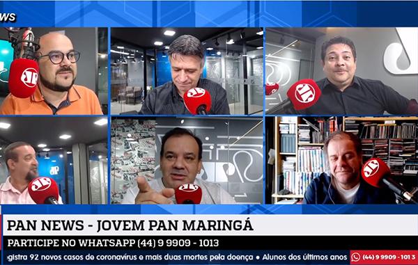 Programa Pan News da Jovem Pan Maringá. Café com Jornalista