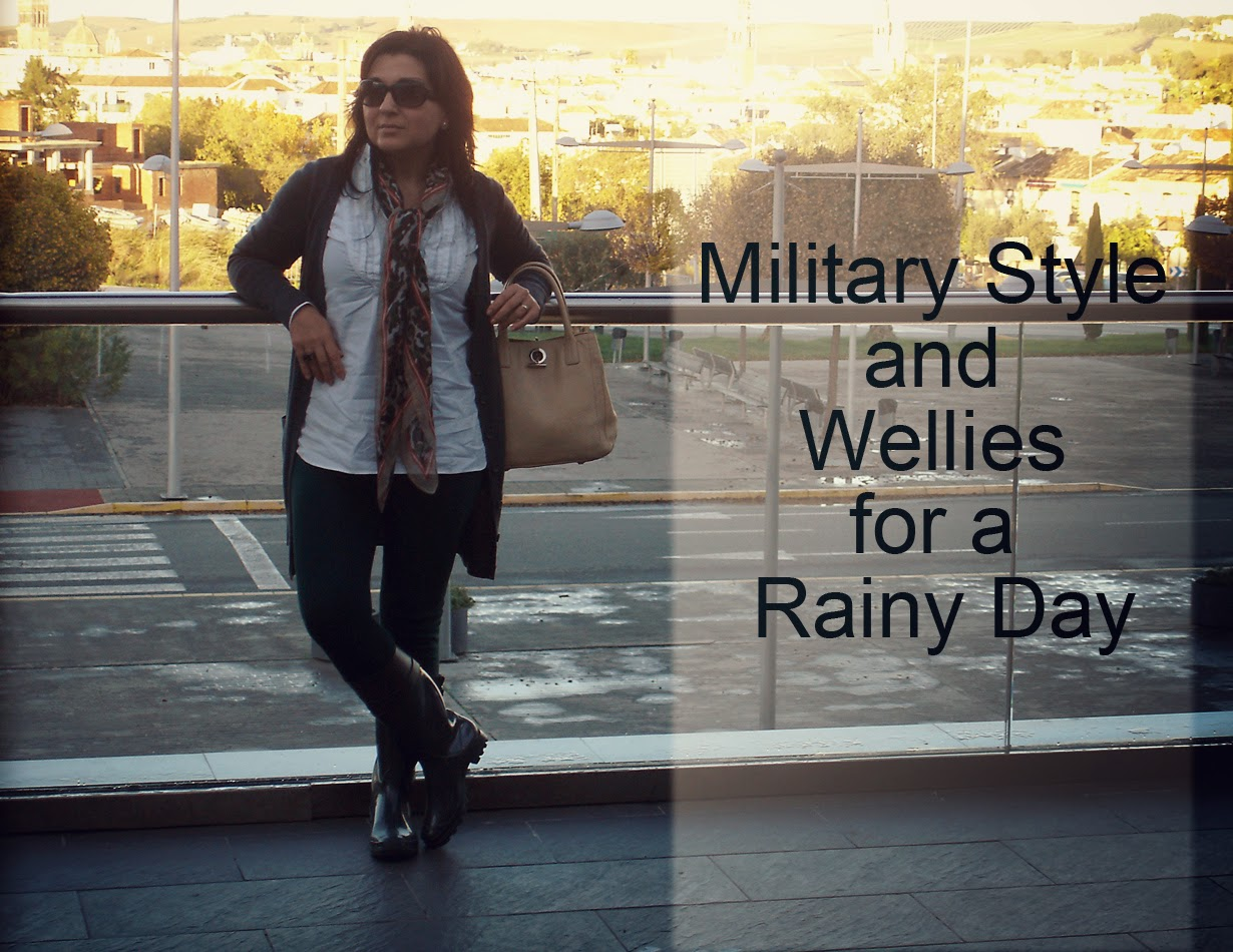 Military+Style+and+Wellies+for+Rainy+Day