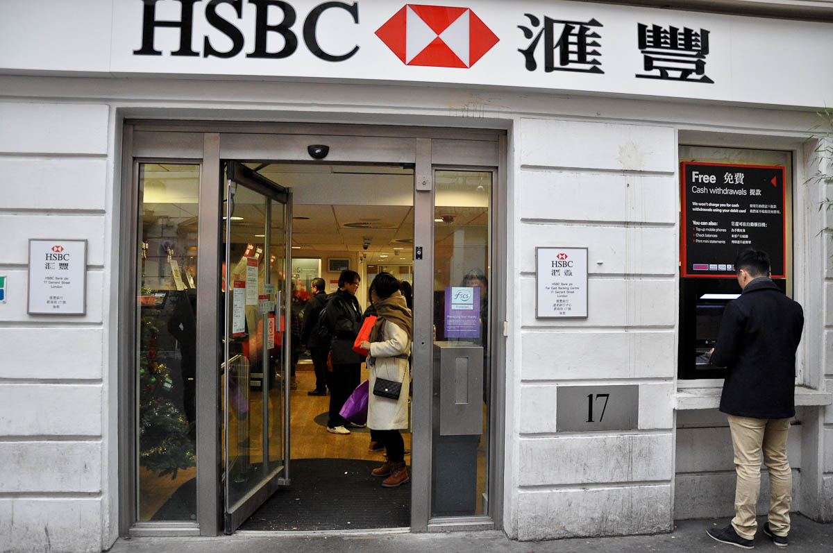 Localised bank, Chinatown, London, England