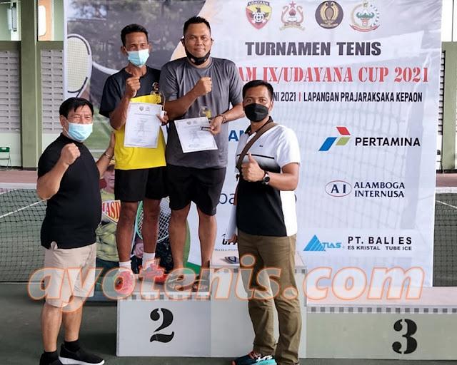Hasil Lengkap Kejuaraan Tenis JASDAM IX/UDAYANA CUP Tahun 2021