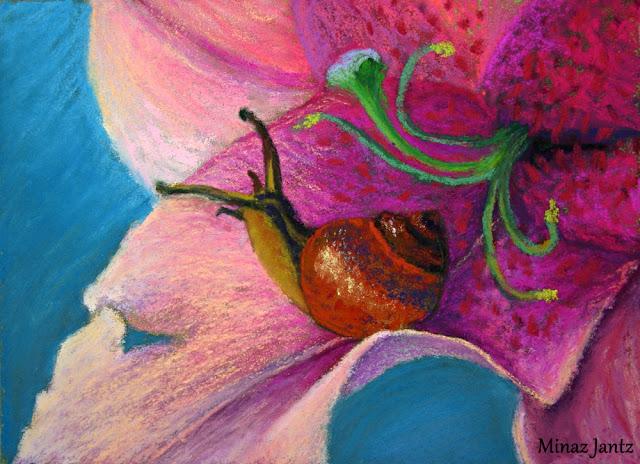 The Snails Hideout by Minaz Jantz (Pastel)