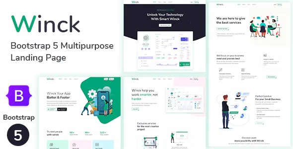 Best Bootstrap 5 Multipurpose Landing Page