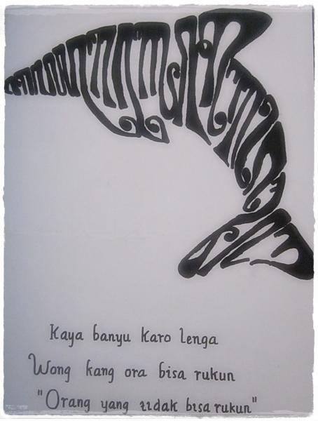 Seni Berkaligrafi Kaligrafi Aksara Jawa Becik Ketitik Ala