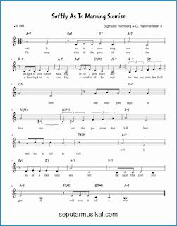 chord softly, as in a morning sunrise lagu jazz standar
