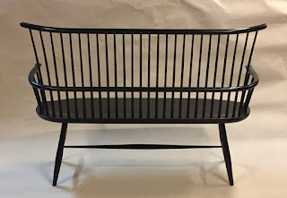 Contemporary Windsor bench by Timothy Clark