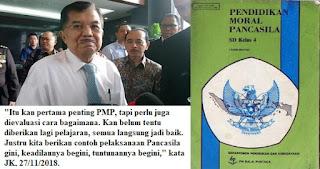 Pelajaran PMP Dihidupkan Kembali, Begini Tanggapan Wakil Presiden Jusuf Kalla