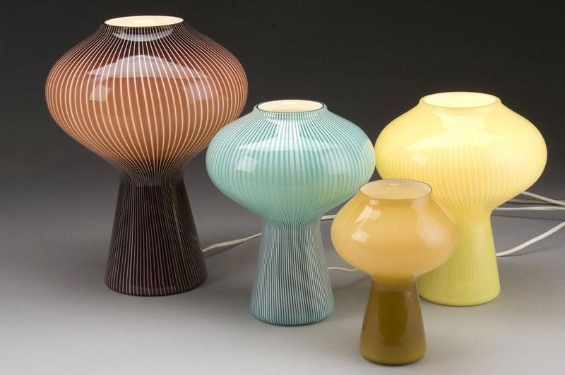 10 lámparas clásicas del diseño industrial, Lámpara de mesa, Fungo, Studio Venini