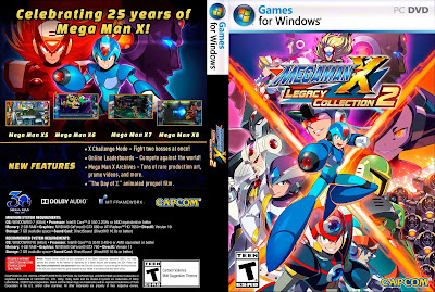 Jogo Mega Man X Legacy Collection 2 PC DVD Capa