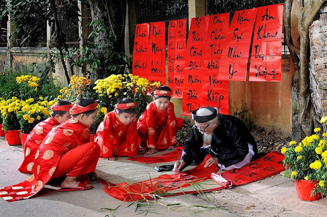 Paraller and fireworks in Tet holiday, Viet Nam 1
